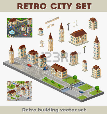 Urban infrastructure clipart #10