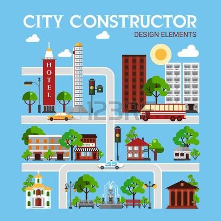 Urban infrastructure clipart #12