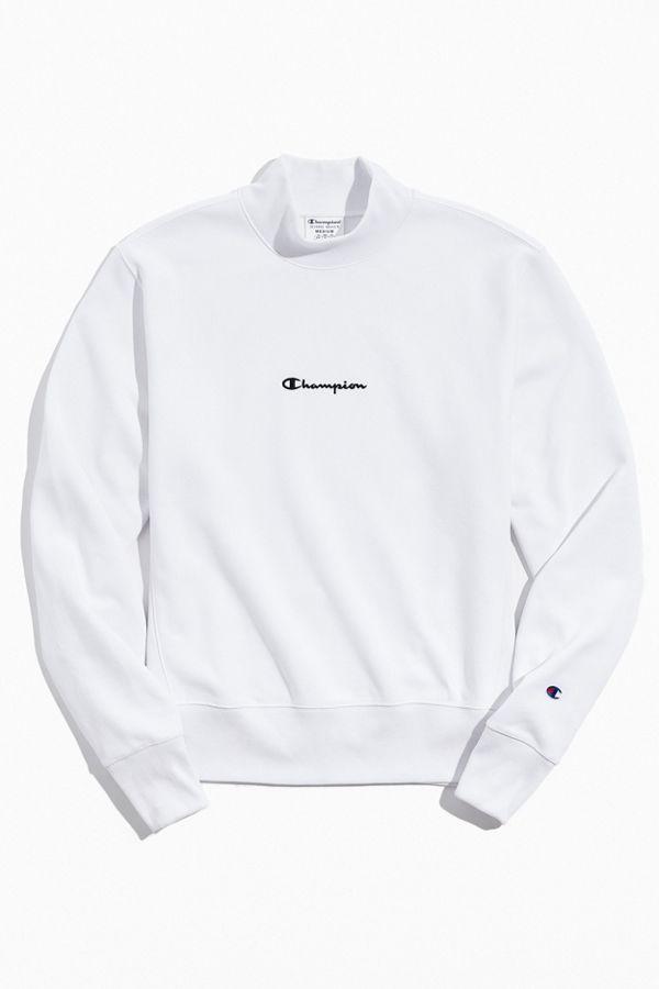 Champion UO Exclusive Script Logo Mock Neck Sweatshirt.