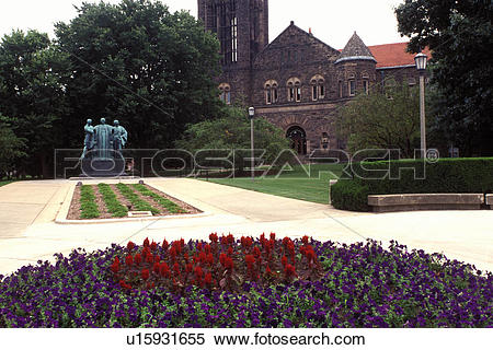 Stock Image of college, University of Illinois, Urbana, IL.