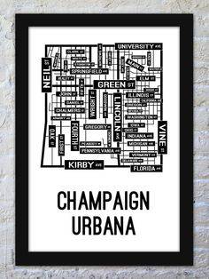 Map champaign county clipart.