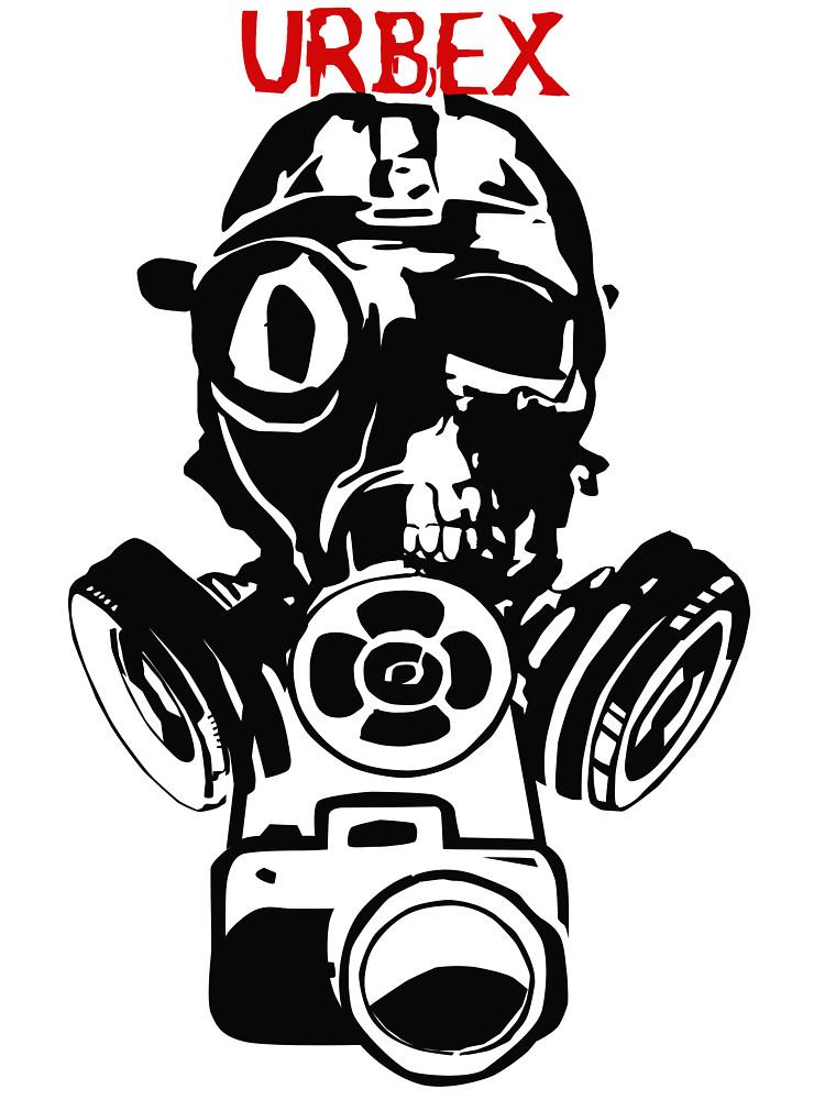 Urban Exploration UrbEx Gas Mask Skull