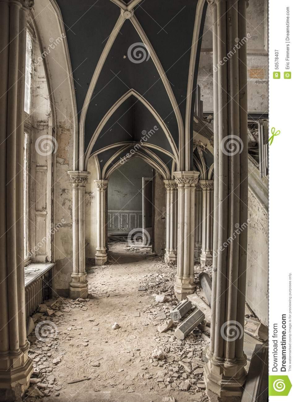 Urbex Castle Stock Photo.