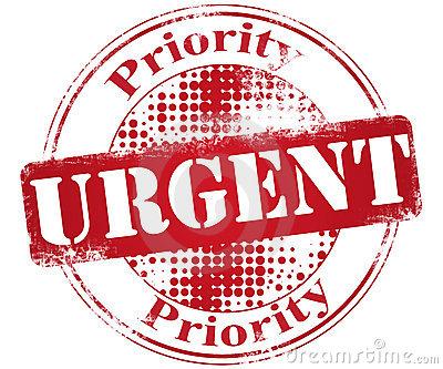 Urgent clipart images.