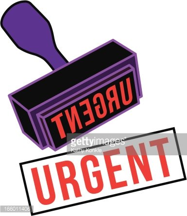 urgent rubber stamp Clipart Image.
