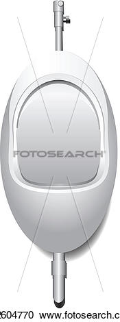 Clipart of Urinal for man k12604770.