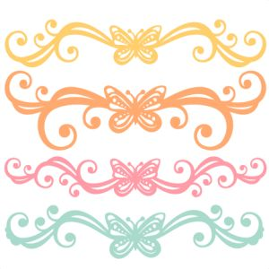 Butterfly Flourishes SVG scrapbook cut file cute clipart files for.