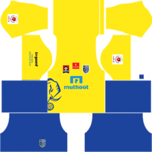 Kerala Blasters FC Jersey Kits & Logo URLs.