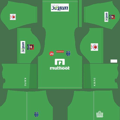 Kerala Blasters FC Kit 2018 Dream League Soccer Kits URL.