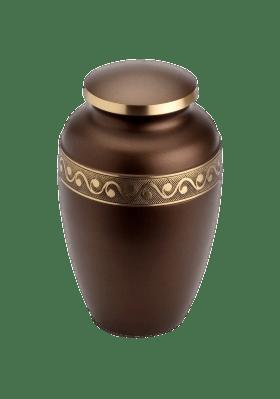 Brown Cremation Urn transparent PNG.