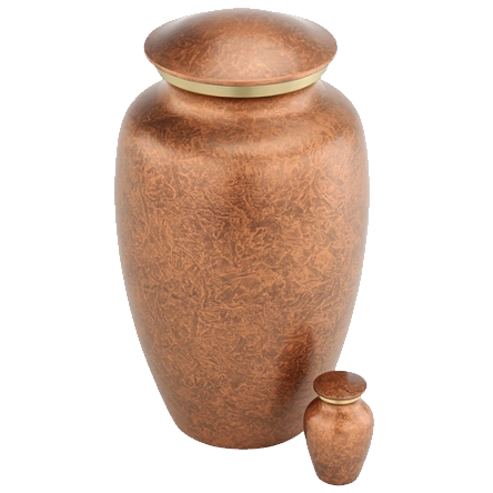 Coppergold Metal Urn — A Sacred Moment.