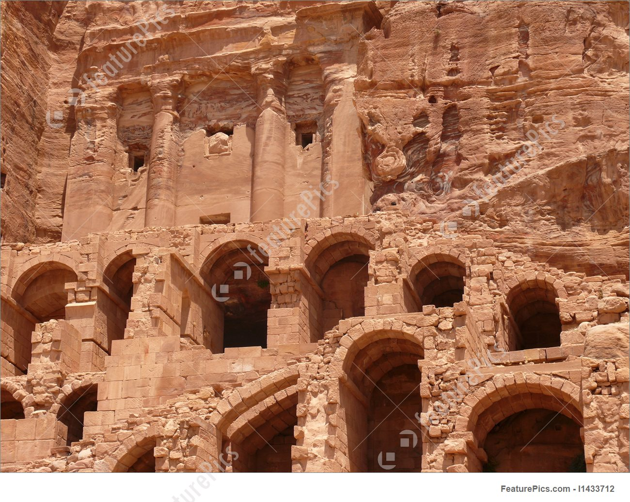 Burial Chambers, Tombs Of Kings, Urn Tomb, Ancient City, Petra.