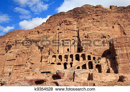 Pictures of Urn Tomb in Petra, Jordan k9354528.
