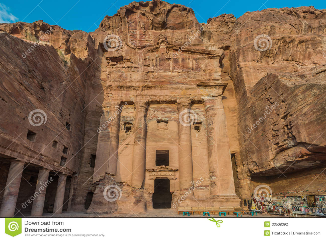 Urn Tomb In Nabatean City Of Petra Jordan Stock Photography.