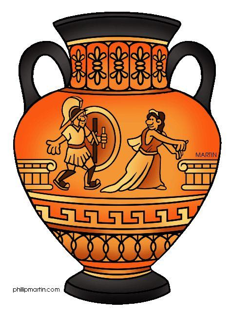 Greek Urns, Vases Illustration.