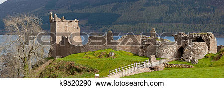 Stock Photography of Urquhart Castle Panorama k9520290.