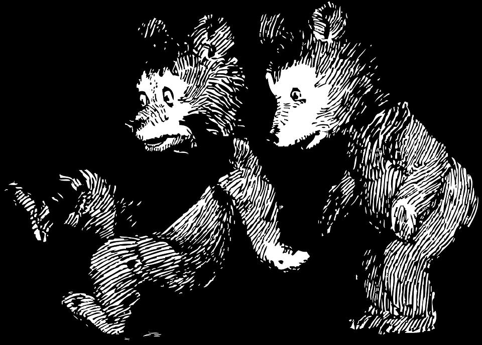 Free vector graphic: Bears, Cubs, Teddy Bears, Ursidae.