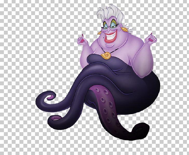Ursula Ariel The Little Mermaid Flotsam Minnie Mouse PNG.
