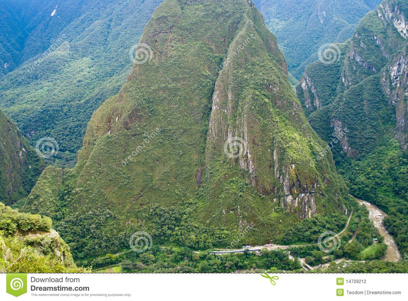 Urubamba Fluss Bei Machu Picchu, Peru Stockfotografie.