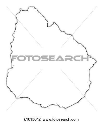 Clip Art of Uruguay outline map k1015642.
