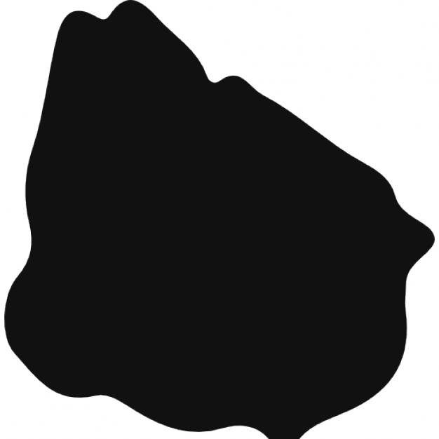 Uruguay black country map shape Icons.