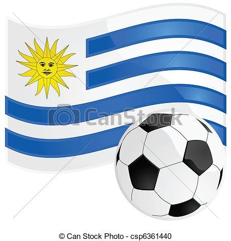 Vector Clipart of Uruguay soccer.