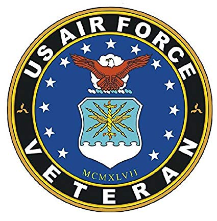 US Air Force Veteran car Sticker.