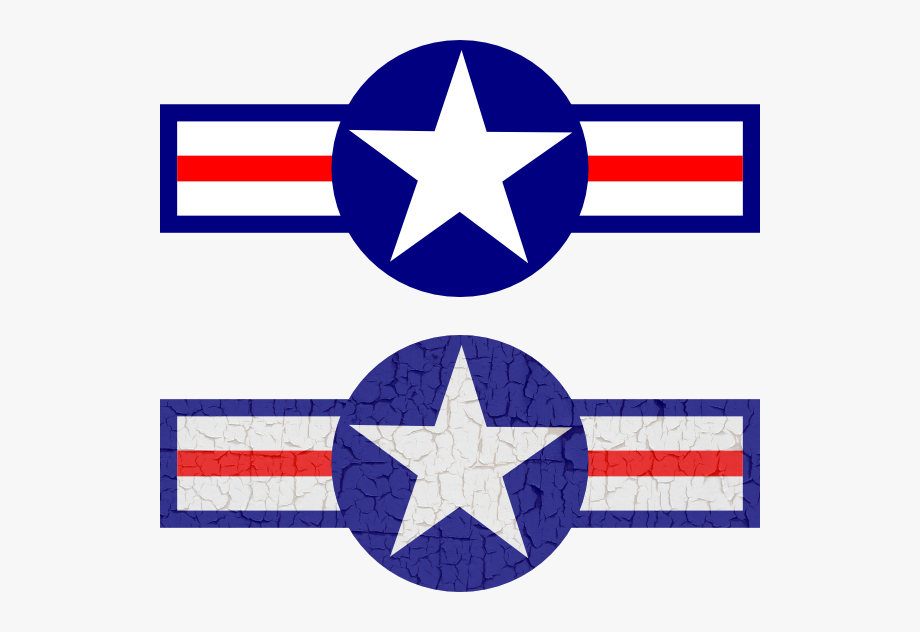 How To Set Use Air Force Stripes And Star Svg Vector.