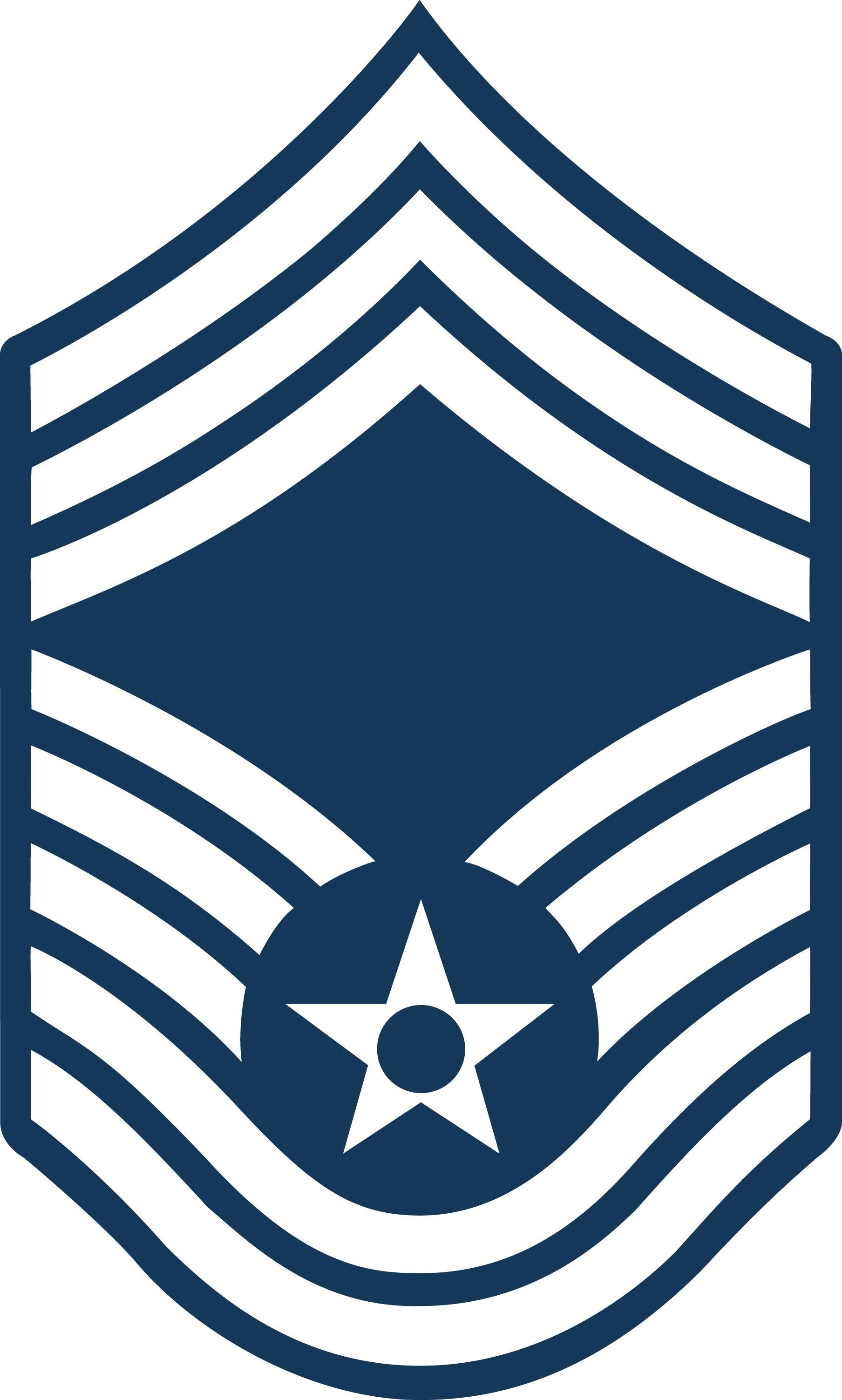Chief Master Sergeant CMSgt stripes.