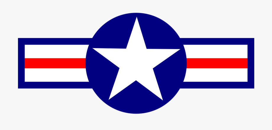 Air Blue Military Plane Red Star States Stripes.
