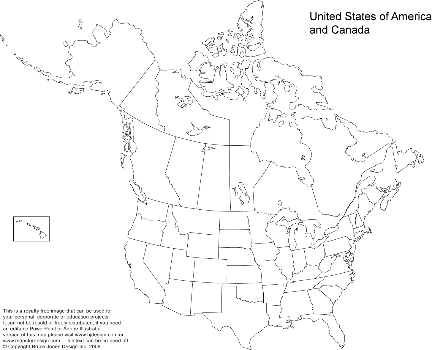 US and Canada Printable, Blank Maps, Royalty Free • Clip art.
