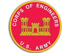 Details about 4x4 inch ROUND U.S. ARMY Corps of Engineers Sticker.