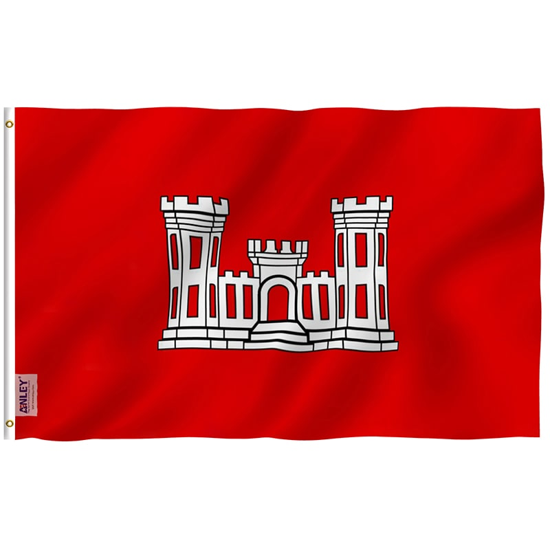 Fly Breeze US Army Corps of Engineers Flag 3x5 Foot.