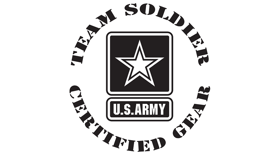 U.S. Army Team Soldier Certified Gear Vector Logo.