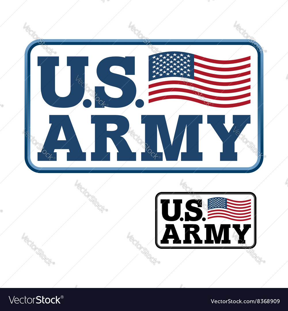 US Army Emblem for army of America Flag of United.
