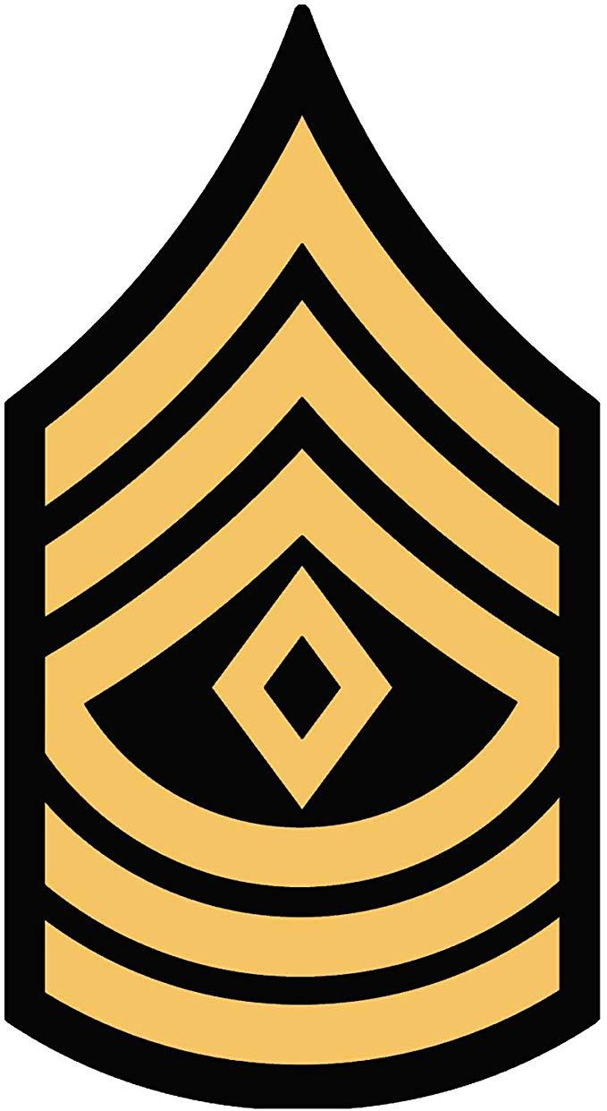 US Army Rank 1SG First Sergeant Sticker (ssi logo insignia 1st).