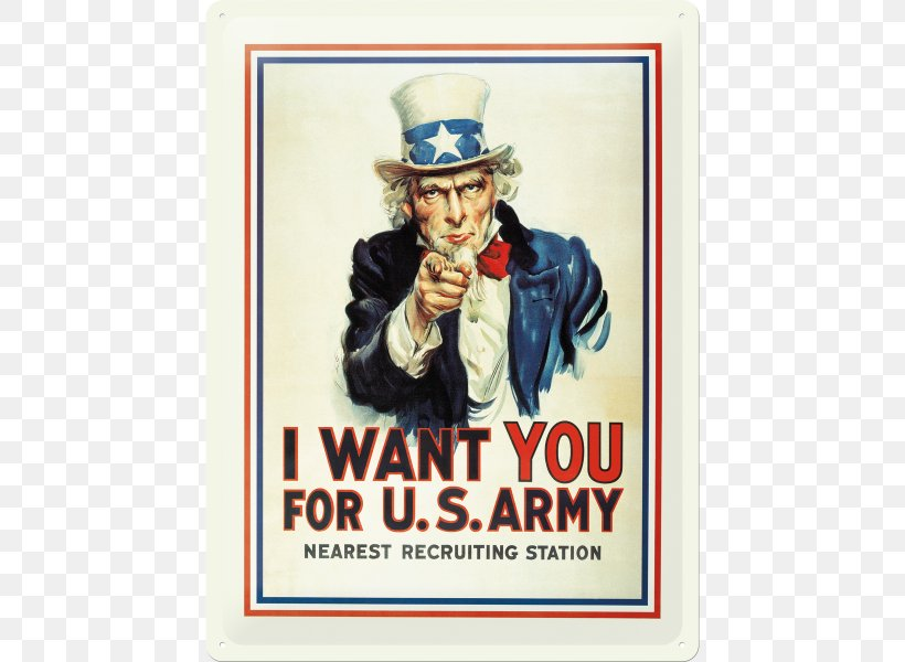 Uncle Sam United States Army Recruiting Command I Want You.