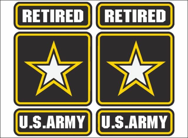 US Army RETIRED Emblem / PAIR / 6\