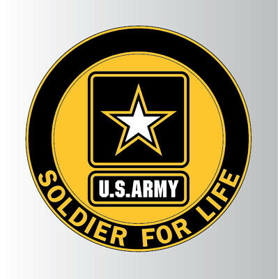 SOLDIER FOR LIFE Retired Logo Decal Sticker.