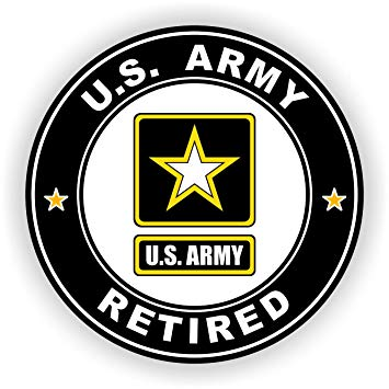 Amazon.com: Military Vet Shop Magnet US Army Retired Vinyl.