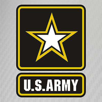 US Army Military Logo Soldier Retired Vinyl Graphics Decal Sticker Car  Window.