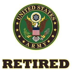US Army Retired Sticker w/Army Emblem.