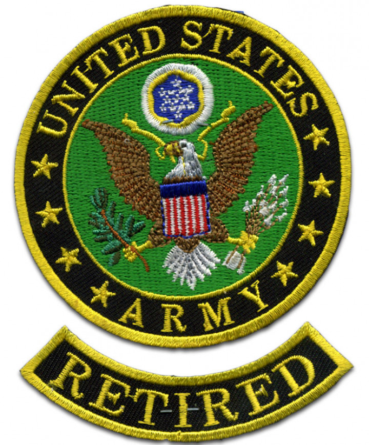Army Logo Retired Patch.