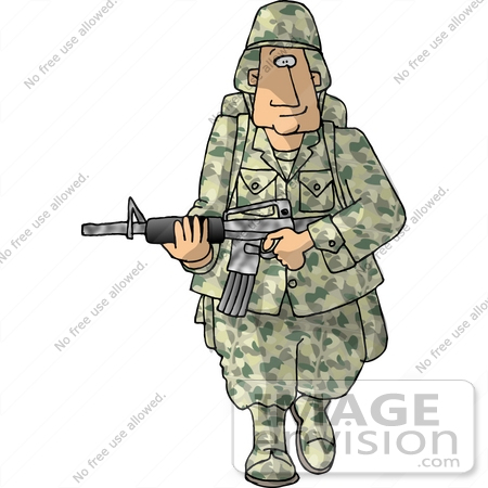 5254 Army free clipart.