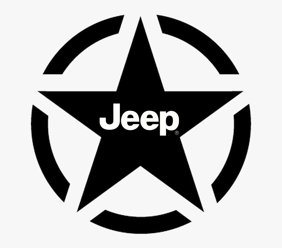 Military Jeep Star With Jeep Logo Within.
