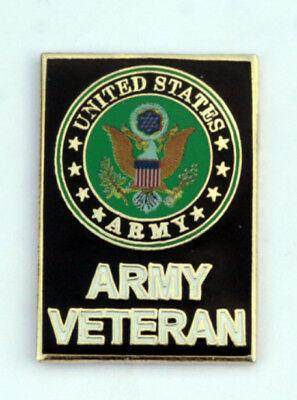 US ARMY VETERAN Vet Seal Logo Lapel Hat Pin Up Military.