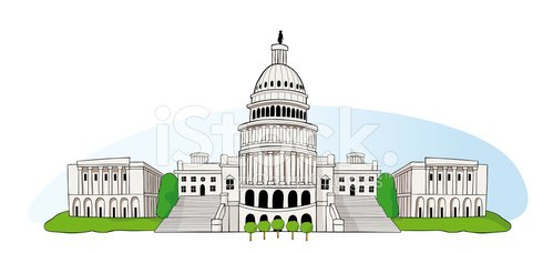 US Capitol IN Washington DC premium clipart.