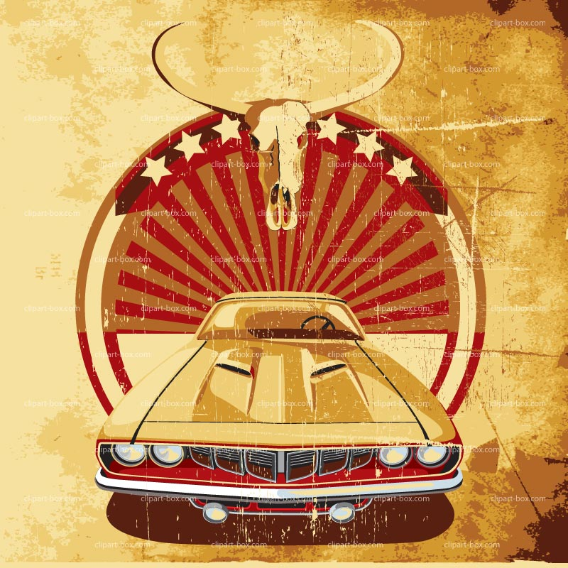 CLIPART AMERICAN MUSCLE CAR POSTER 2.