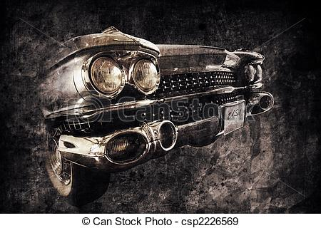 Stock Illustration of old car.