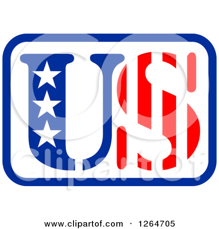 Clipart of a Patriotic American Stars and Stripes US Design.